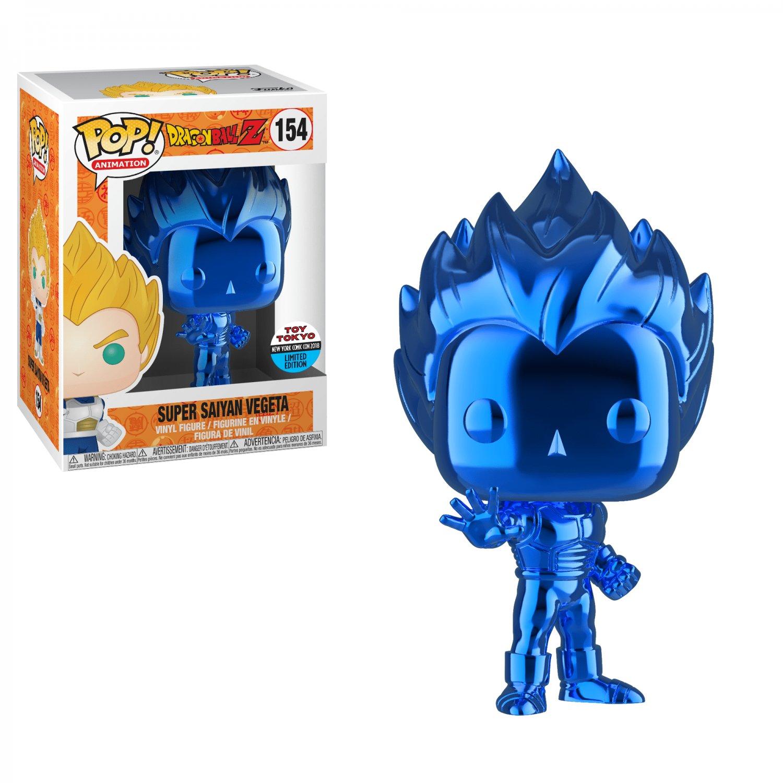 Vegeta (Blue,Chrome) Dragon Ball Z �154 Funko POP! Action Figure Vinyl PVC Minifigure Toy