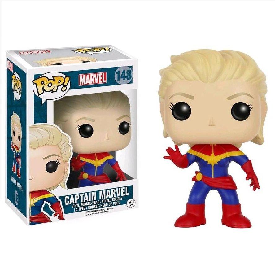 Captain Marvel (Unmasked) Marvel Comics �148 Funko POP! Action Figure Vinyl PVC Minifigure Toy