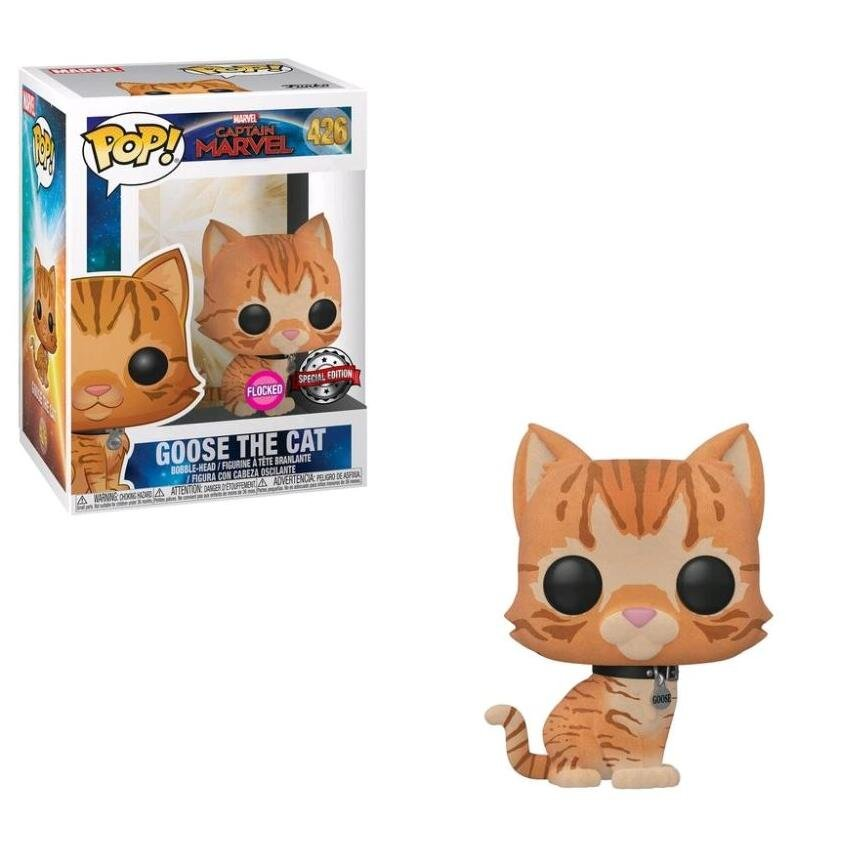 Goose the Cat Captain Marvel Marvel Comics �426 Funko POP! Action Figure Vinyl PVC Minifigure Toy