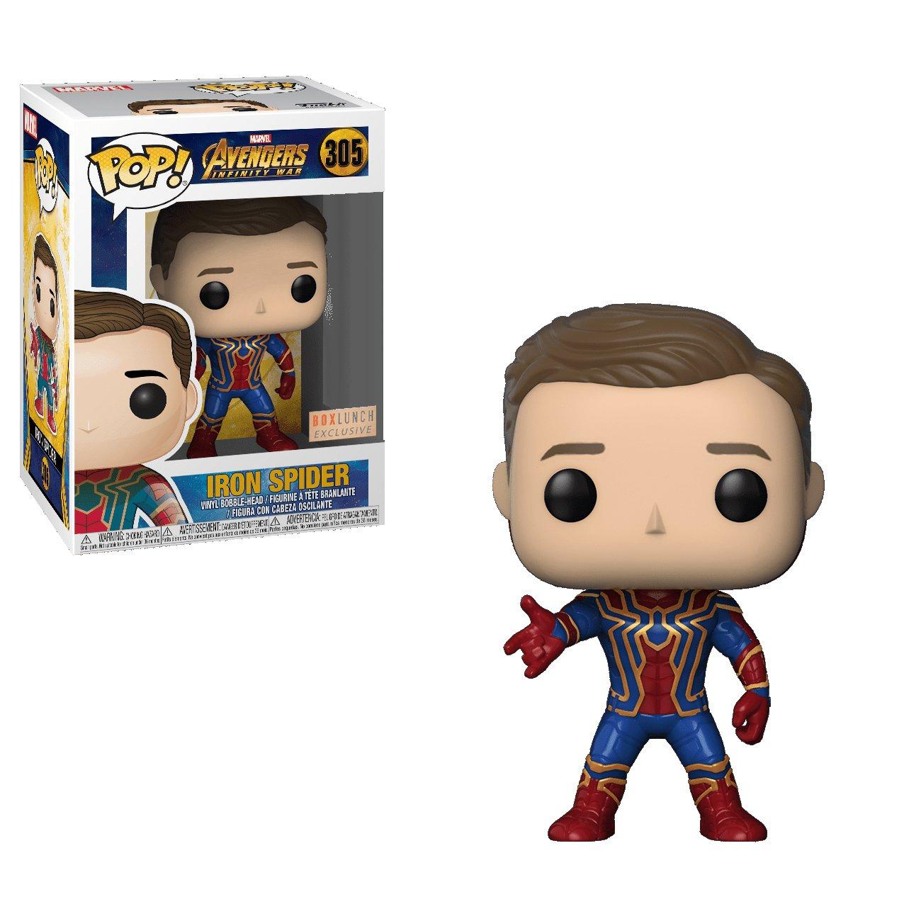 Iron Spider Unmasked Avengers Marvel Comics �305 Funko POP! Action Figure Vinyl PVC Minifigure Toy
