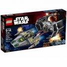 75150 Lego Star Wars Vader's TIE Advanced vs. A-Wing Starfighter