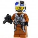 Minifigure Rebel Pilot White Helmet Star Wars Compatible Lego Building Block Toys