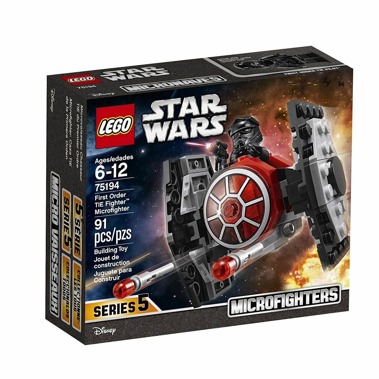 75194 Lego Star Wars First Order TIE Fighter Microfighter Microfighters