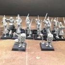 12pcs Bretonnian Bowmen Regiment Empire Warhammer Resin Models 1/32 scale Action Figures