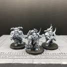 3pcs Plague Marines Reinforcements Chaos Marines Warhammer Resin Models 1/32 scale Action Figure