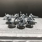 7pcs Traitor Guards Warhammer Resin Models 1/32 scale Action Figures Toys Hobby