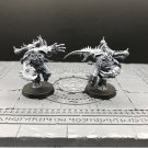 2pcs Greater Possessed Daemonkin Chaos Space Marines Warhammer Resin Models 1/32 scale