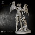Deamon Queen with a Slave Princess Fantasy Resin Models 1/24 scale 75 mm Toys Hobby Action Figure