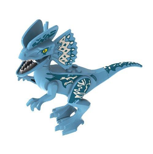 Minifigure Blue Dilophosaurus Dinosaur Jurassic World