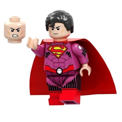 Minifigure Superman Pink Suit DC Comics Super Heroes
