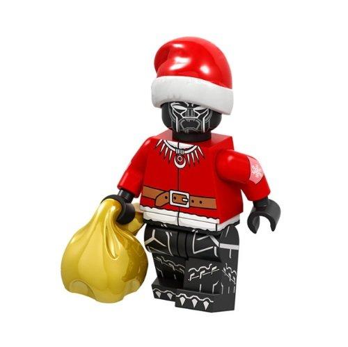 Minifigure Black Panther Christmas Suit Santa Marvel Super Heroes