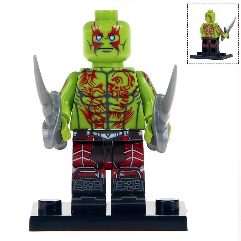 Minifigure Drax Green Guardians of the Galaxy Marvel Super Heroes