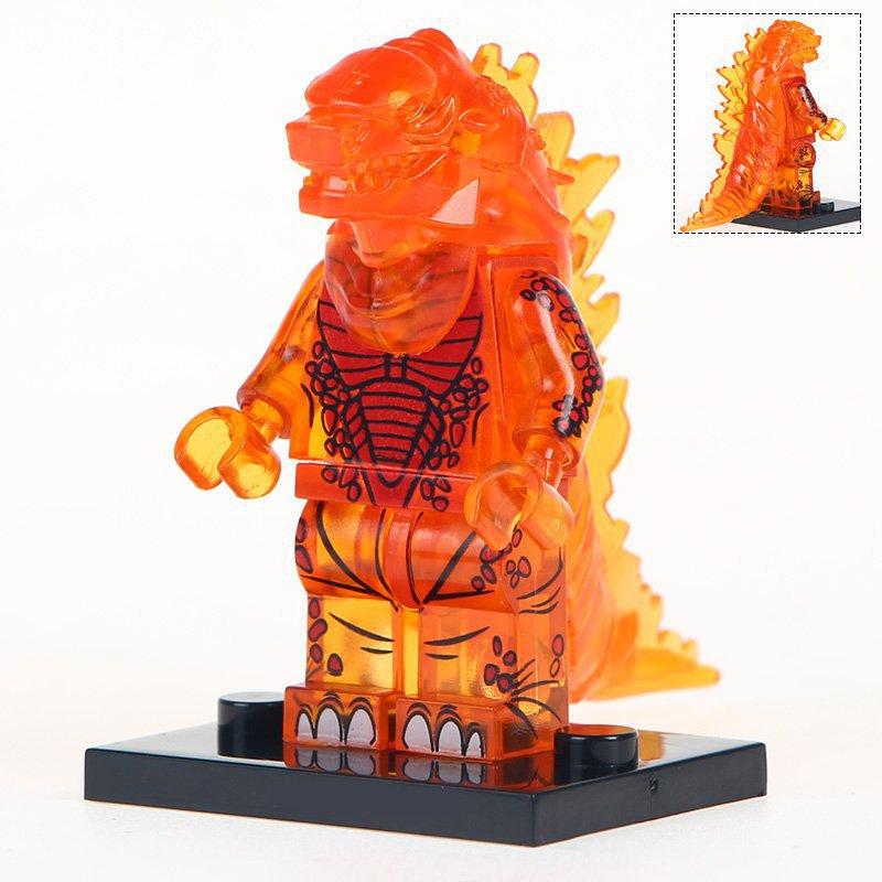 Minifigure Godzilla Transparent Orange