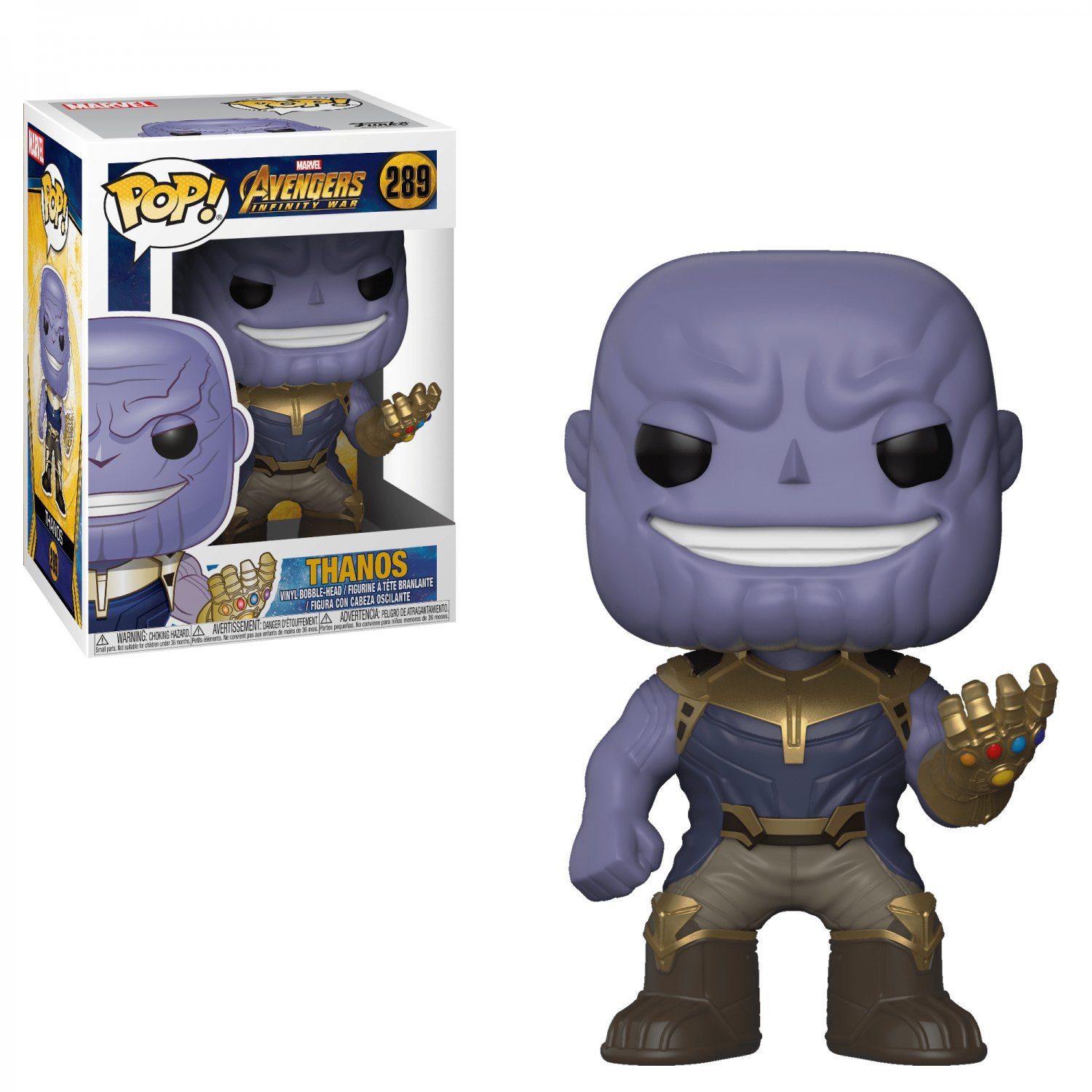 Thanos Avengers Marvel Comics �289 Funko POP! Action Figure Vinyl PVC Minifigure Toy