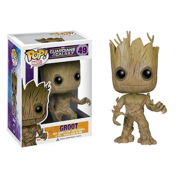 Groot Guardians of the Galaxy Marvel �49 Funko POP! Action Figure Vinyl PVC Minifigure Toy
