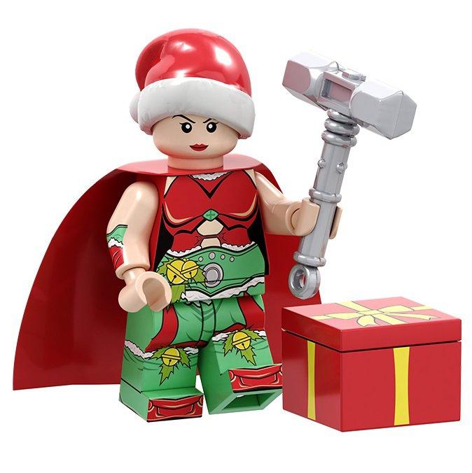 Minifigure Jane Foster Thor Christmas Santa Marvel Super Heroes