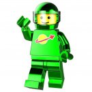 Minifigure Chrome Green Astronaut Spaceman NASA Space