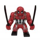 Big Minifigure Deadpool Marvel Super Heroes Compatible Lego