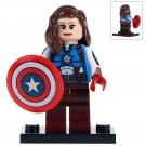 Minifigure Peggy Carter Captain America Marvel Super Heroes Compatible Lego