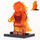 Minifigure Godzilla Transparent Orange Compatible Lego