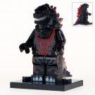 Minifigure Godzilla Black Compatible Lego