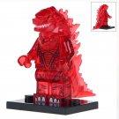 Minifigure Godzilla Transparent Red Compatible Lego