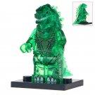 Minifigure Godzilla Transparent Green Compatible Lego