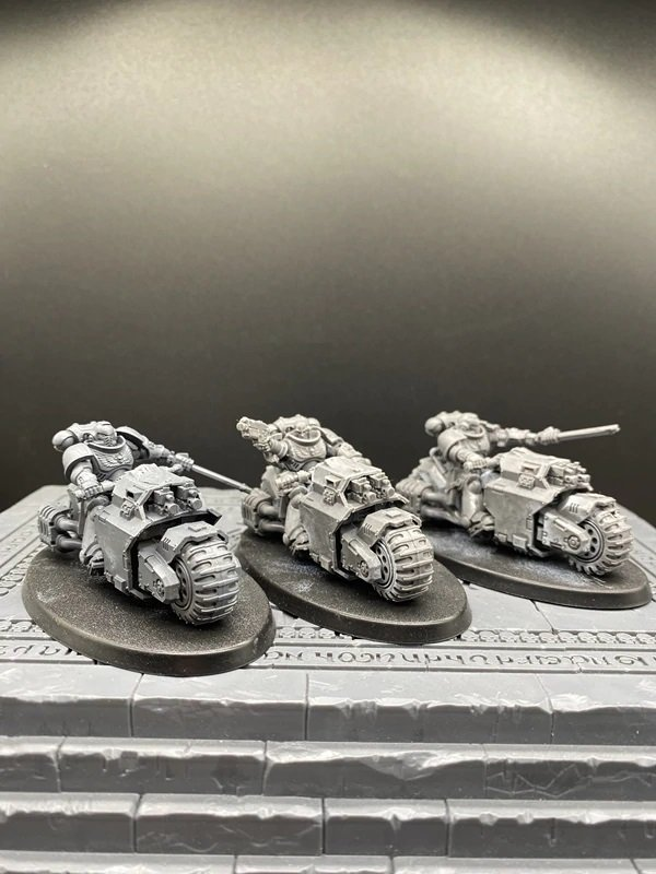 3pcs Outriders Squads Primaris Space Marine Warhammer Resin Models 1/32 scale