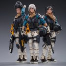3pcs The 12th Peron Patrol Girls Action Figure 1/18 Anime Soldiers Military Toys