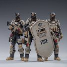 3pcs Moon Wolf Team Anti-Terror Special Police Military Action Figure 1/18 Anime Toys