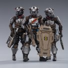 3pcs Skeleton Forces Hell's Fifth Company Military Action Figure 1/18 Soldiers Anime Toys