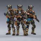 3pcs Hell Skull Paratrooper Squad Army Military Action Figure 1/18 Soldiers Anime JoyToy