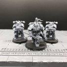 3pcs Obsidius Mallex Servants of the Abyss Warband Lord Chaos Space Marine Warhammer Model 1/32