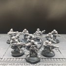 10pcs Tallarn Desert Raiders Imperial Guard Warhammer Resin Model 1/32 Action Figures