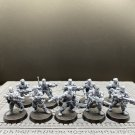 10pcs Catachan Jungle Fighters Astra Militarum Imperial Guard Warhammer Resin Model 1/32 Figures