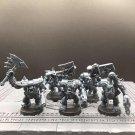 5pcs Ork Nobz Assault on Black Reach Xenos Armies Warhammer Resin Models 1/32 Figures Action Figures