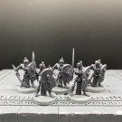 5pcs Tomb Guard Tomb Kings Skeleton Warriors Fantasy Warhammer Resin Models 1/32 Action Figures