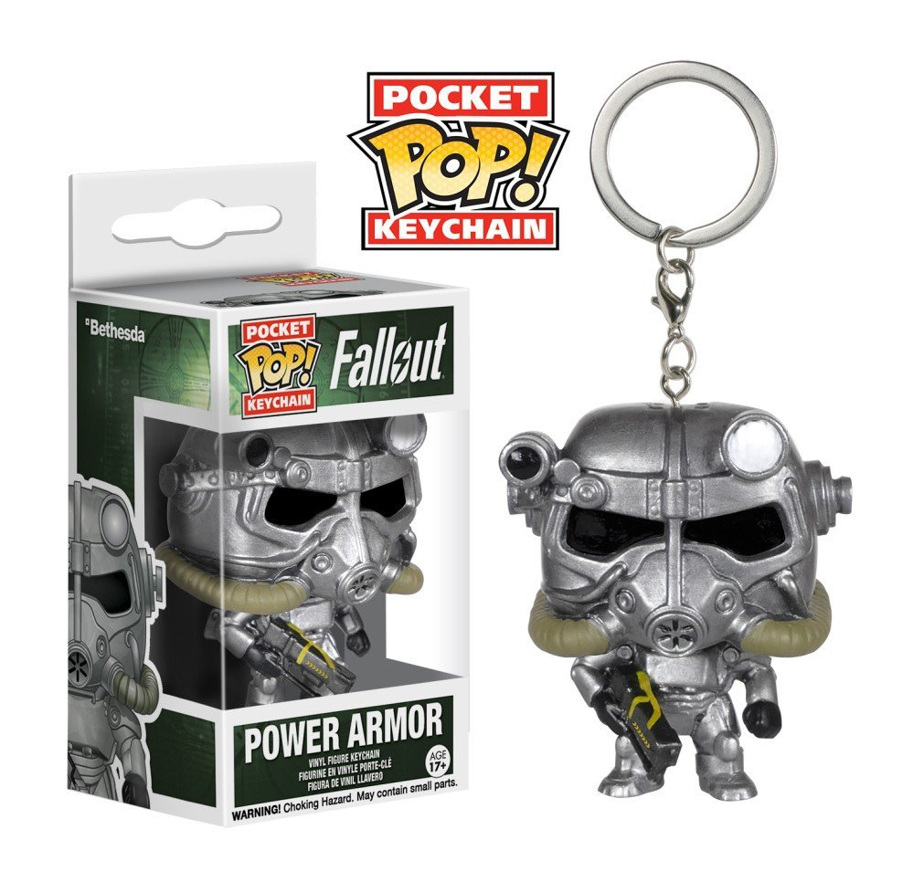 Power Armor Fallout Funko POP! Keychain Action Figure Vinyl PVC Minifigure Toy