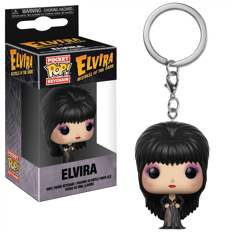 Elvira Mistress of the Dark Funko POP! Keychain Action Figure Vinyl PVC Minifigure Toy