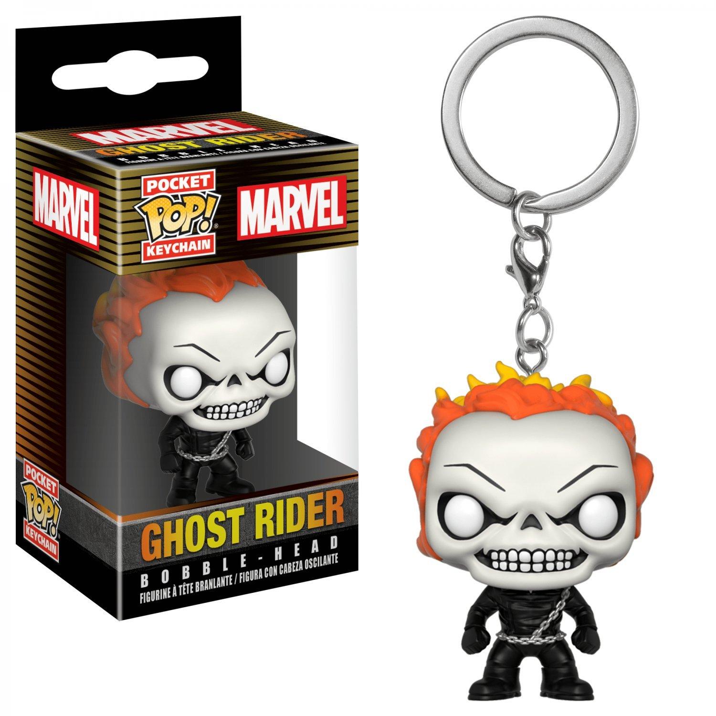 Ghost Rider Marvel Super Heroes Funko POP! Keychain Action Figure Vinyl PVC Toy