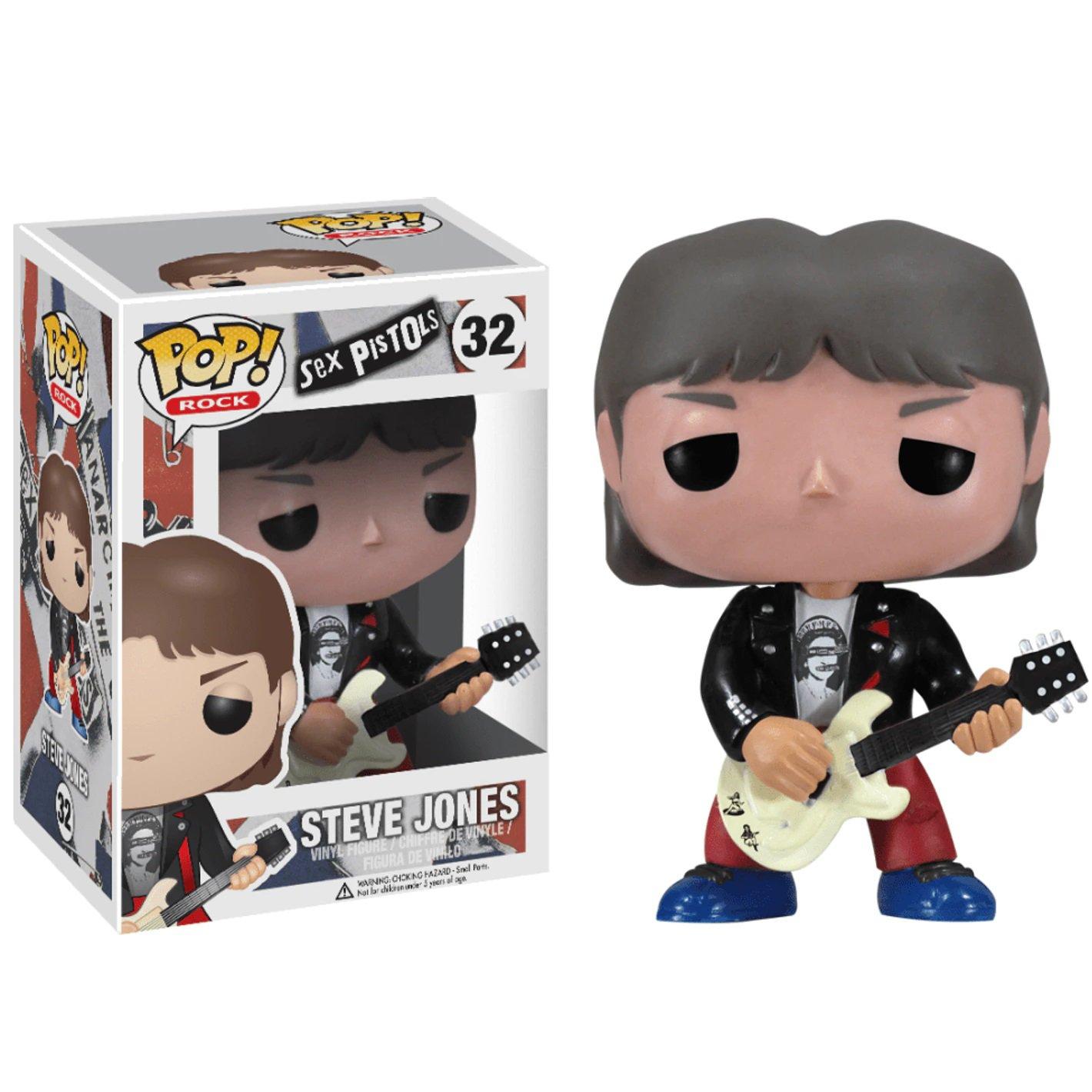 Steve Jones Sex Pistols �32 Punk Rock Music Funko POP! Action Figure Vinyl PVC Toy