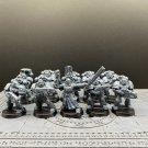 10pcs Dark Angels Tactical Squad Space Marine Warhammer Resin Models 1/32 Action Figures Toys Hobby