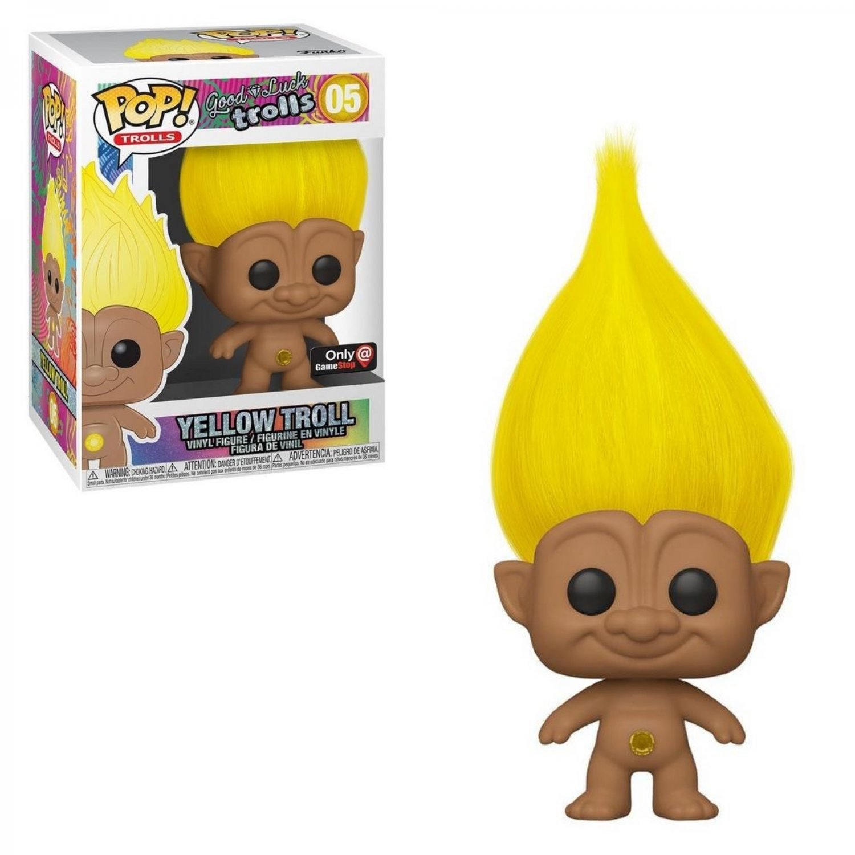 Yellow Troll Good Luck Trolls �05 Funko POP! Movie Cartoon Action Figure Vinyl PVC Toy
