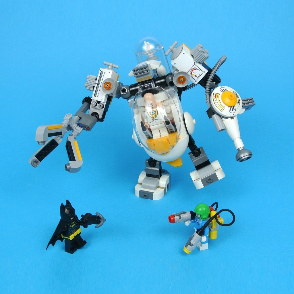 Egghead Mech Food Fight Batman DC Comics Super Heroes Building Blocks Toys Compatible 70920 Lego