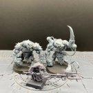 3pcs Packmaster with Skaven Rat Ogres The Island of Blood Fantasy Warhammer Resin Models 1/32