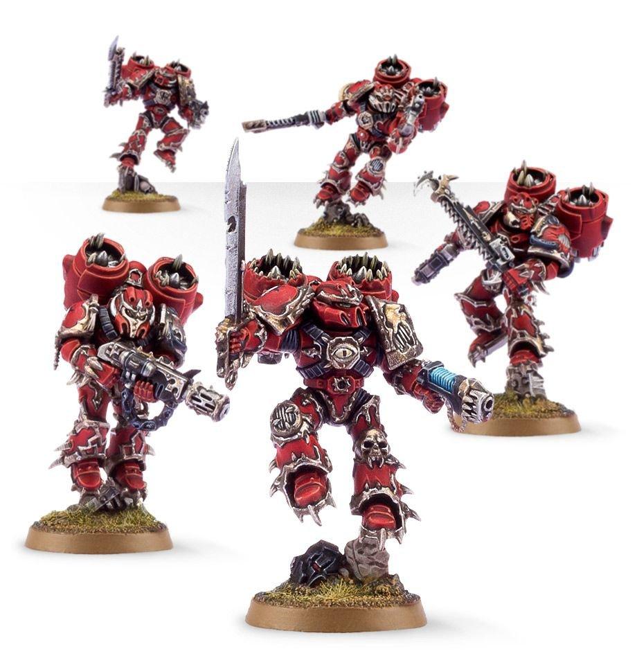 5pcs Raptors Chaos Space Marines Warhammer 40k Resin Figures Toys Games