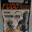 Fishing Hooks FUDO SOIW with ring - Black Nickel 3401 (3/0-11/0) / Made in Japan