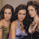 Charmed  Autographed Photo x 3 Rose Mcgown, Holly Marie Combs & Alyssa Milano (Ref:000012)
