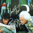 Michael J Fox & Christopher Lloyd Back To The Future Autographed Photo - (Ref:0000109)