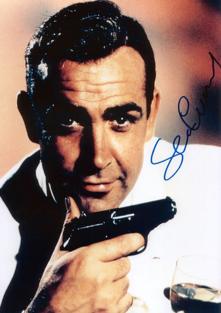 "Sean Connery OO7 /James Bond 5 x 7"" Autographed Photo - (Reprint 00132) ideal for Birthdays & X-mas"